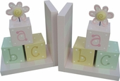 Flower ABC Blocks Bookends