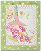 Flower Ballet Gallery Wrapped Stretched Giclee Canvas