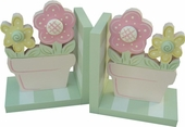 Flower Pot Bookends