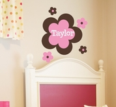 Flower Power Custom Personalized Wall Decal