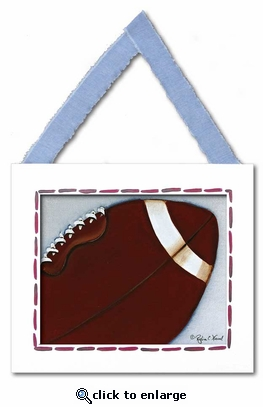 Football Framed Giclee Print
