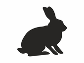 Forest Critters Chalkboard Rabbit Wall Decal