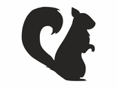 Forest Critters Chalkboard Squirrel Wall Decal