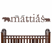 Forest Critters Custom Personalized Wall Decal