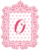 Framed Dotted Monogram Wall Decal in Pink