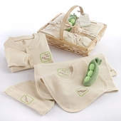 Fresh Produce Sweet Pea 5-Piece Organic Layette Set