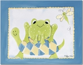 Frog & Turtle Gallery Wrapped Stretched Giclee Canvas