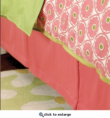 Gerber Daisy Pleated Bed Skirt
