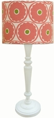 Gerber Daisy Shade with White Spindle Lamp