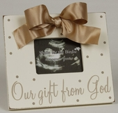Gift From God Beige Sonogram Picture Frame