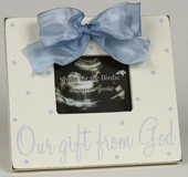 Gift From God Blue Sonogram Picture Frame
