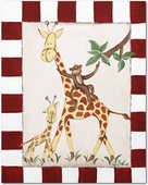 Giraffe & Monkey Gallery Wrapped Stretched Giclee Canvas
