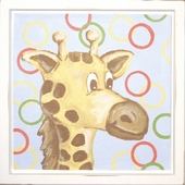 Giraffe Mounted Deco Art Print