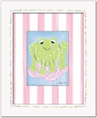 Girl Frog Custom Framed Giclee Print
