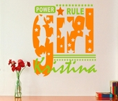 Girls Rule Custom Personalized Wall Decal