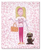 Girls Rule Gallery Wrapped Stretched Giclee Canvas