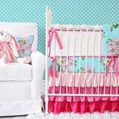Girly Tiny Bouquet Crib Bedding