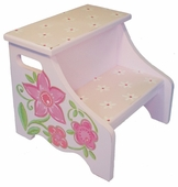 Glitter Flower Step Stool