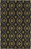 Gold & Black Ogee Candice Olson Hand-Tufted Rug