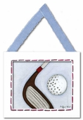 Golf Framed Giclee Print