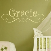 Gracie's Custom Personalized Wall Decal