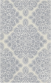 Gray Blue Diamond Loops Candice Olson Hand-Tufted Rug