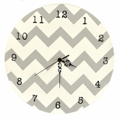 Gray Chevron Wall Clock