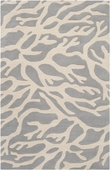 Gray Coral Escape Hand-Tufted Rug