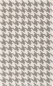 Gray Houndstooth Frontier Hand-Woven Indoor/Outdoor Rug