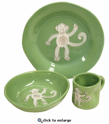 Green Monkey Character Ceramic Dish Collection