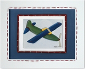 Green Plane Custom Framed Giclee Print