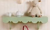 Green Scalloped Wall Shelf