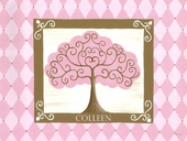 Grow Tree in Pink Canvas Wall Art