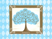 Grow Tree in Turquoise Canvas Wall Art