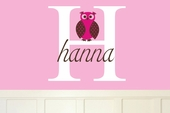 Hanna's Owl Custom Personalized Wall Decal