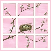 Happiness in Enlighten Pink Canvas Wall Art