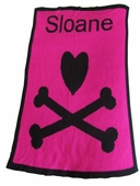 Heart & Crossbones Personalized Blanket