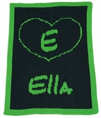 Heart Outline Personalized Blanket