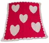 Hearts Customized Blanket