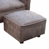 Heaven Sent Chocolate Faux Suede Child Contemporary Ottoman