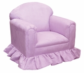 Heaven Sent Lavender Faux Suede Child Classic Chair