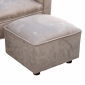 Heaven Sent Mocha Faux Suede Child Contemporary Ottoman