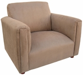 Heaven Sent Mocha Faux Suede Child Modern Chair