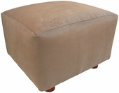 Heaven Sent Mocha Faux Suede Child Modern Ottoman