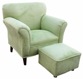Heaven Sent Pistachio Faux Suede Child Contemporary Chair