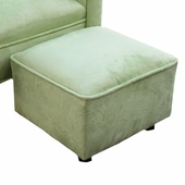 Heaven Sent Pistachio Faux Suede Child Contemporary Ottoman