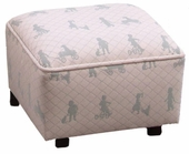 Heaven Sent Sage Child Woven Contemporary Ottoman