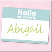 Hello Girl Pink and Aqua Personalized Gallery Wrapped Stretched Giclee Canvas