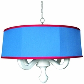 Henry Drum Chandelier in Chambray