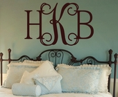Hip Chick Monogram Custom Personalized Wall Decal